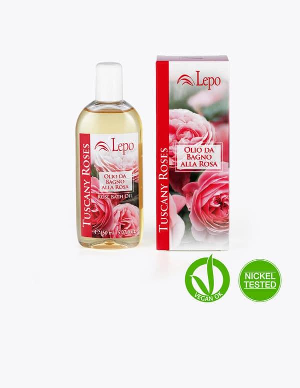aceite de baño a la rosa