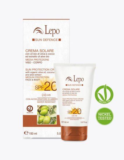 crema solar de protección 20