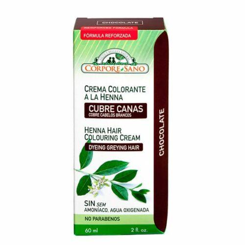 corpora sano crema colorante henna chocolate